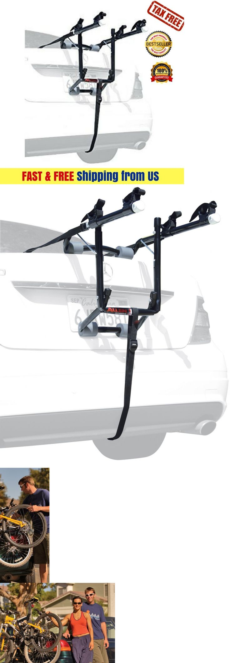 Car and truck racks 177849 new styles deluxe 2 bike trunk mount rack carrier easily