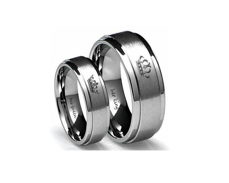 316L stainless steel NYA RATU dan RAJA cincin pasangan untuk pecinta NYA