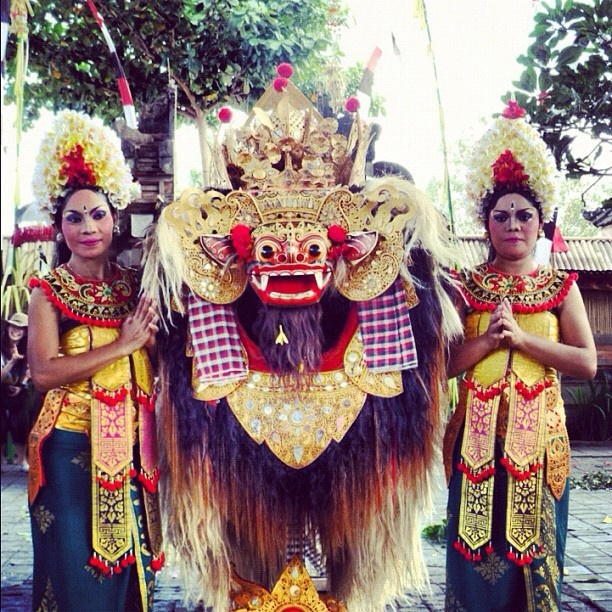 Barong is a lion-like creature and character in the mythology of Bali, Indonesia. He is the king of the spirits, leader of the hosts of good, and enemy of Rangda, the demon queen and mother of all spirit guarders in the mythological traditions of Bali. The battle between Barong and Rangda is featured in Barong dance to represent the eternal battle between good and evil.