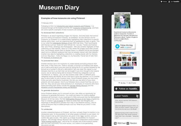 http://jennifuchs.tumblr.com/post/17227794320/examples-of-how-museums-are-using-pinterest via @url2pin