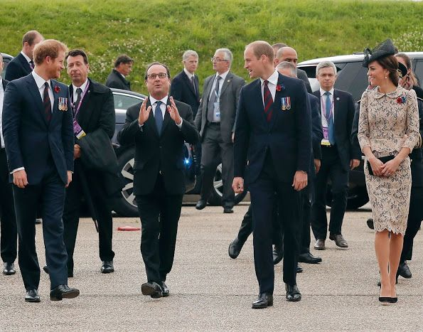 Prince Charles, Prince William, Catherine, Duchess of Cambridge, Prince Harry attend Somme Centenary commemorations