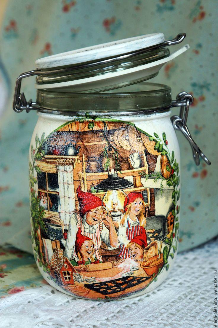 Купить Баночка для кухни с рецептом печенья - белый, банка для чая, банка с крышкой, банка стеклянная