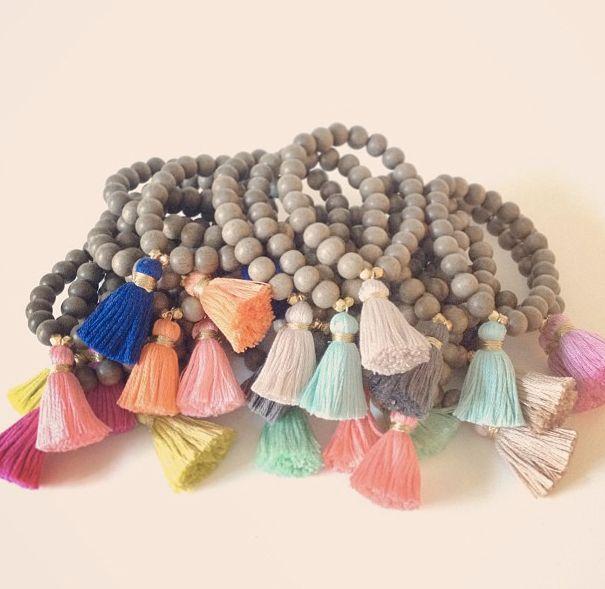 goldandgray-gray-tassel-bracelets