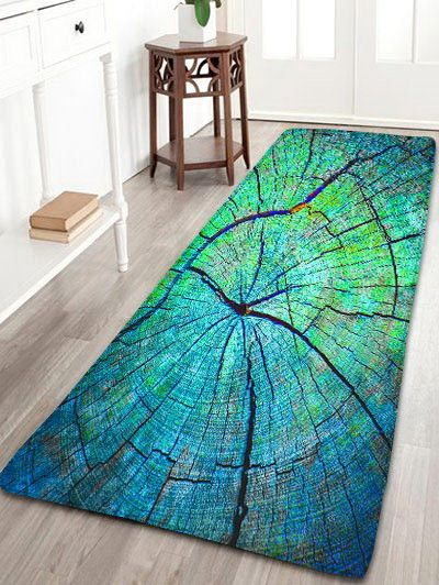 Cracked Wood Pattern Flannel Antiskid Rug