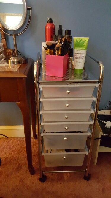 My Storage System For My Extra Make Up And Hair Products! Perfect : )