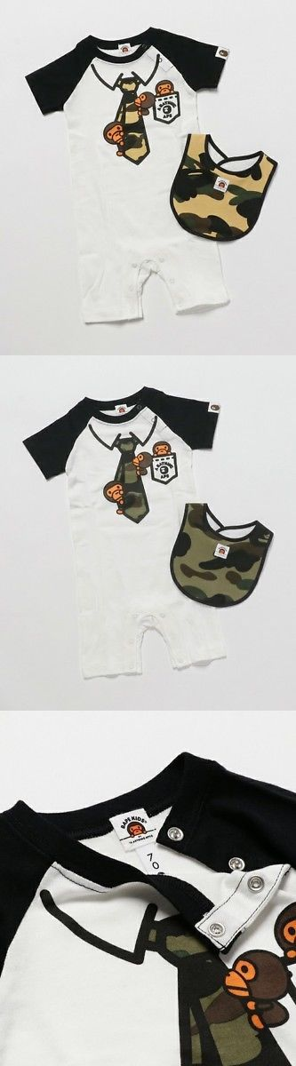 Other Baby and Toddler Clothing 1070: A Bathing Ape Bape Kids 1St Camo Milo Fake Tie Gift Set 2Colors Baby Gift New -> BUY IT NOW ONLY: $129 on eBay!