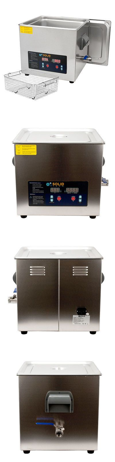 Piercing Supplies and Kits: 3.4 Gallon Solid Tech 13L Steel Ultrasonic Cleaner W Basket Heater Tattoo Grips -> BUY IT NOW ONLY: $229 on eBay!