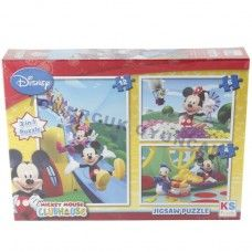 12-6-4-3İN1-PARÇALI MICKEY MOUSE PUZZLE