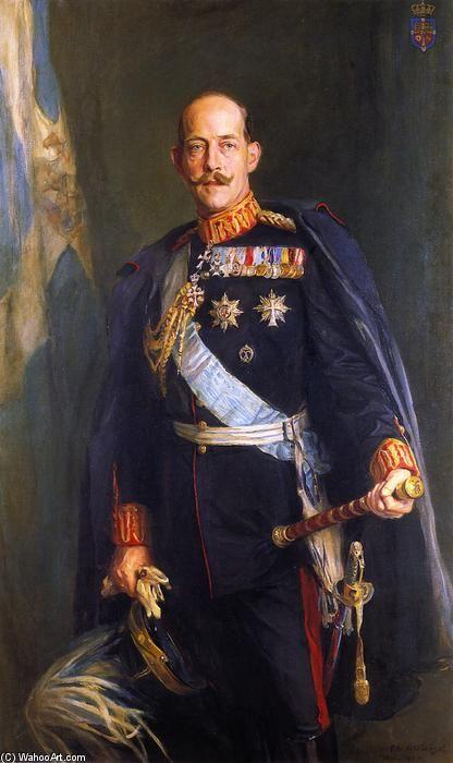 'SM il Re Costantino I degli Elleni', olio su tela di Philip Alexius De László (1869-1937, Hungary)