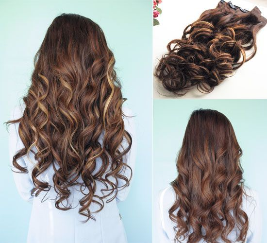 #chocolate brown hair extension. Sweet color! Pick up your hair here to be the look you like!