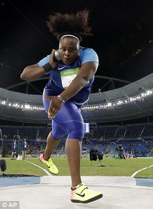 Michelle Carter won the USA's first-ever women's shot put Olympic gold after a…