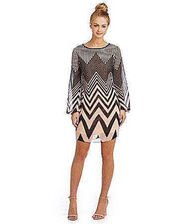 B Darlin Chevron Shift Dress #Dillards