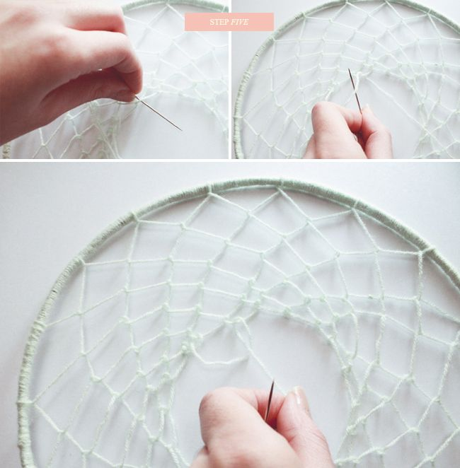 DIY Dream Catcher My Opinion: I used a 10 inch embroidery hoop as my circle. It turned out really good =)