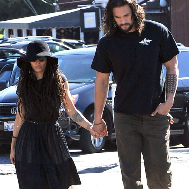 Jason Momoa with his beautiful wife, Lisa Bonet
