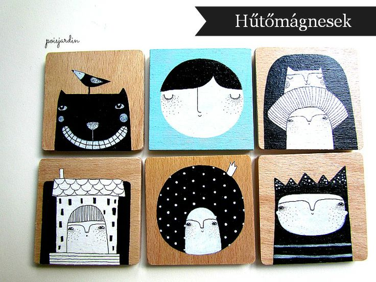 Poisjardin - handmade fridge magnets