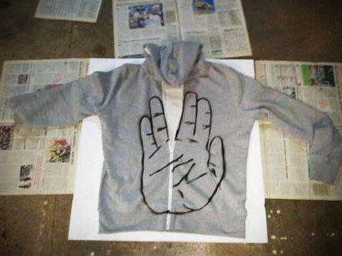 "How to: Make a ""Vulcan Salture"" Hooded Sweatshirt: Trek Sweatshirts, Fashion Crafts, Christmas Presents, Diy Fashion, Sweat Shirts, Living Long, Stars Trek, Startrek, Star Trek"
