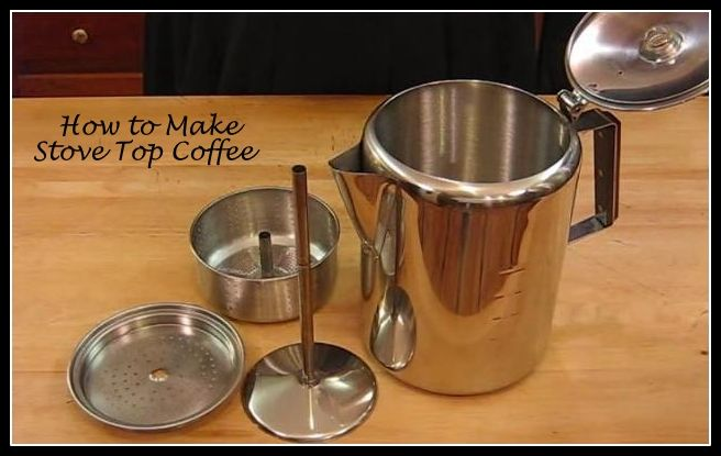 How to Make Coffee in an Old Fashioned Non-Electric Stove Top Coffee Percolator
