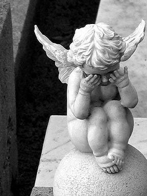 weeping cherub