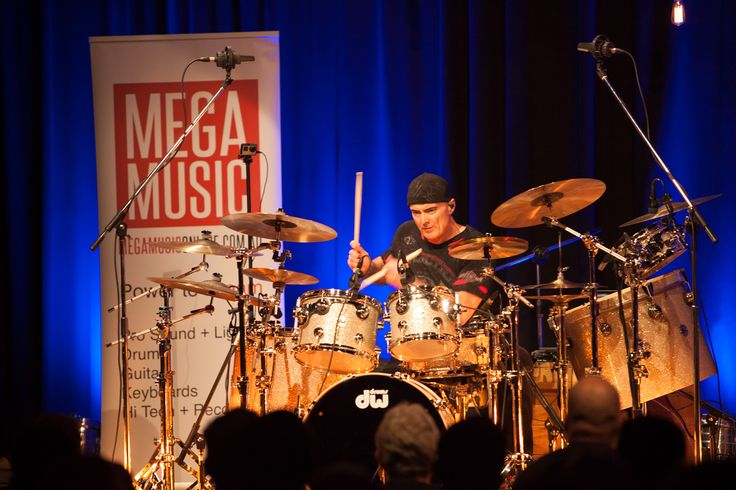 The incredible Virgil Donati in clinic on the DW TV Show Tour #virgildonati #drumclinic #dwtvshowtour #dw #dwdrums #drums #drummer #megamusic #megamusicmyaree