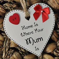 e98ff3a7b77ef3fcdf76bbc0280c9539 wooden hearts keepsakes - Mother's Day White Wooden Heart Gift Plaque Keepsake or Fridge Magnet #1