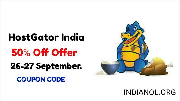 Hostgator India Se Hosting Kharide 50% Discount – Special Offer. 26 June Se 28 June 2k17 Tak Offer Available Hai. Hostgator Hosting 50% off All Hosting Plan