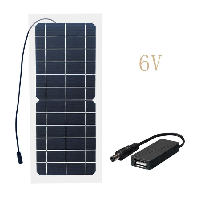Xinpuguang 10w 18v 12v 6v Solar Panel Semi Flexible Cable Monocrystalline Cells Diy Module Usb Connector Ch Solar Energy Panels Solar Heating Best Solar Panels