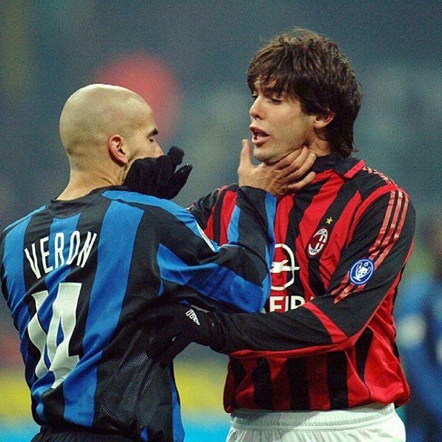 Juan Sebastian #Veron #Inter a muso duro con #Kakà #Milan