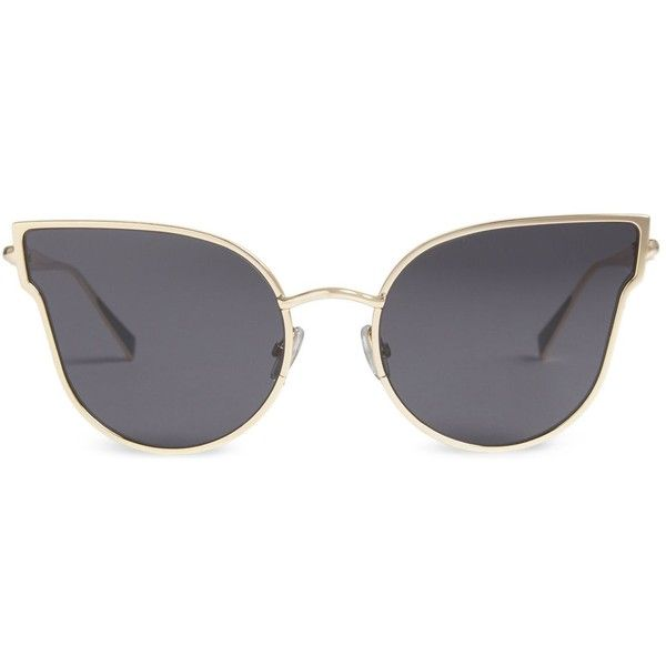 MAX MARA Ilde cat-eye frame sunglasses ($365) ❤ liked on Polyvore featuring accessories, eyewear, sunglasses, flat lens sunglasses, cat eye sunglasses, cat eye sunnies, cateye sunglasses and tinted glasses