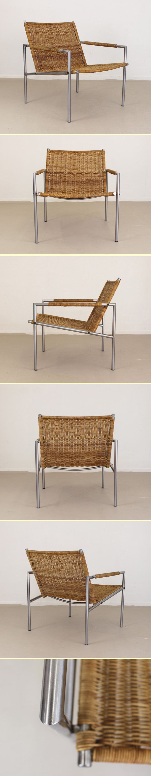 Martin Visser wicker lounge chair old production (11005)