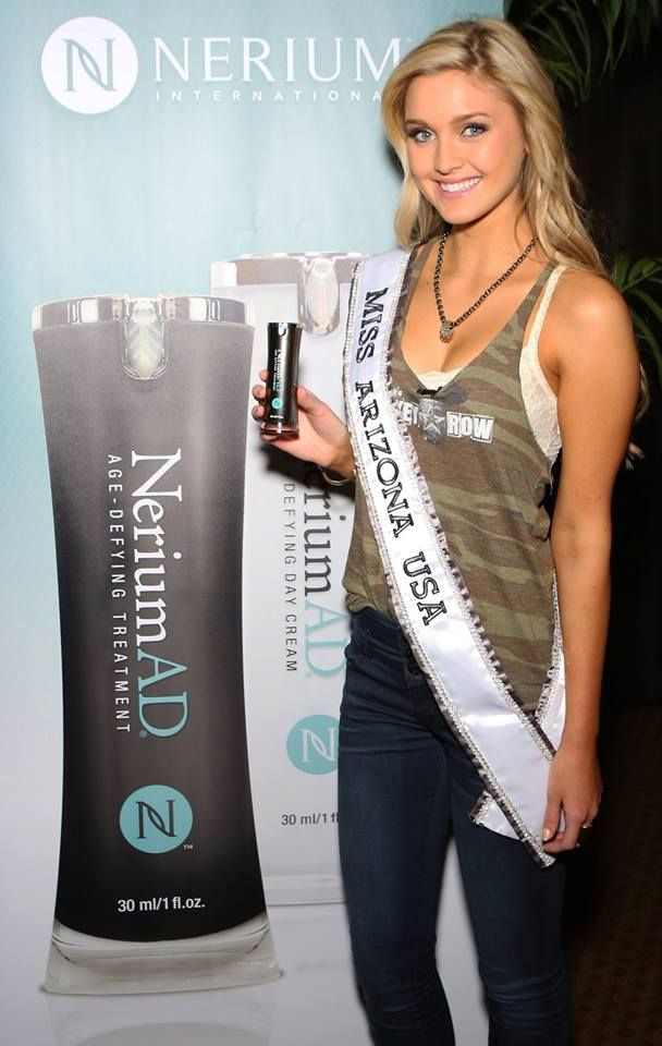 Miss Arizona knows that using nerium will keep her looking young and beautiful, so she will age gracefully.  i.nerium.it/momentum2015