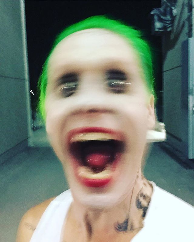 Pin for Later: Suicide Squad: All the Freaky, Fantastic Pictures of Jared Leto as The Joker  This picture is the one that's going to give us nightmares.