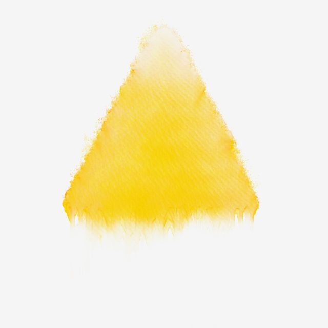 Yellow Triangle Brush Watercolor Abstract Background Splash Red Stain Texture Water Art Acrylic Vintage Grunge Vib Image Painting Clip Art Graphic Illustration