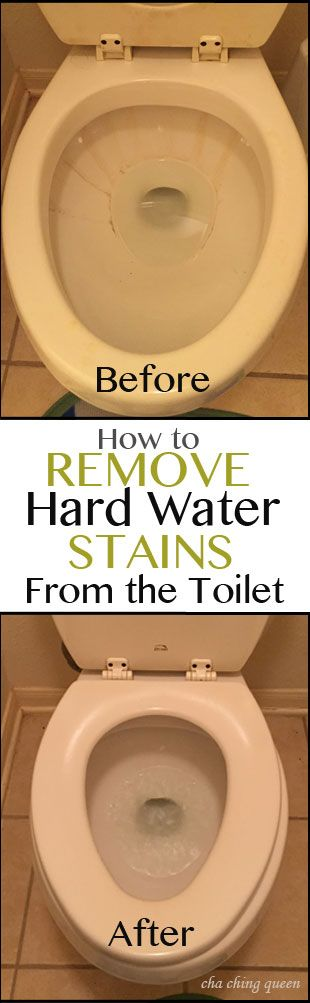 How to Remove Hard Water Stains From the Toilet