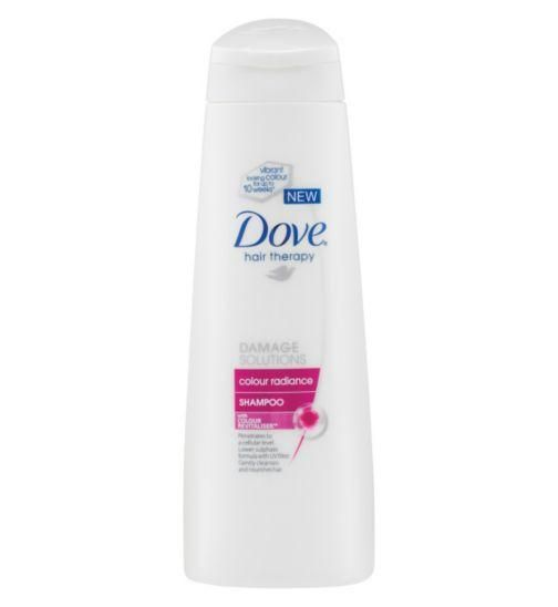 Designed to go to a cellular level and formulated with Colour Revitaliser™ and UV filter. Dove Colour Radiance Shampoo 250ml #hair #haircare #beauty