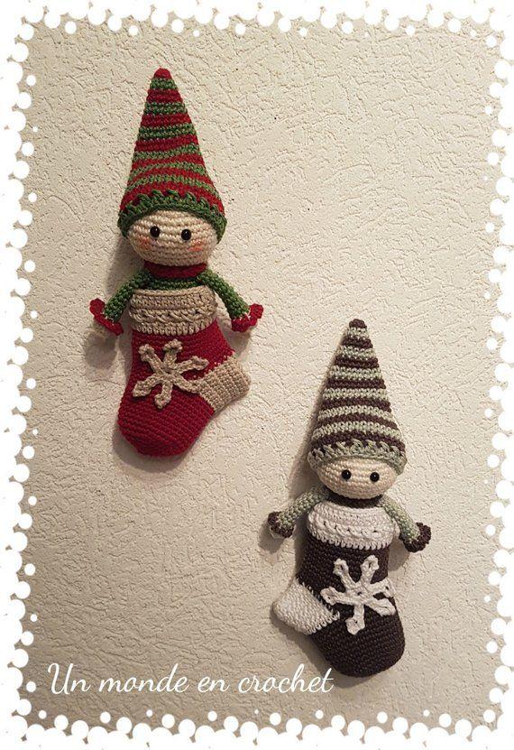 My Little Elf In His Sock In French Pdf Häkeln Zu Weihnachten
