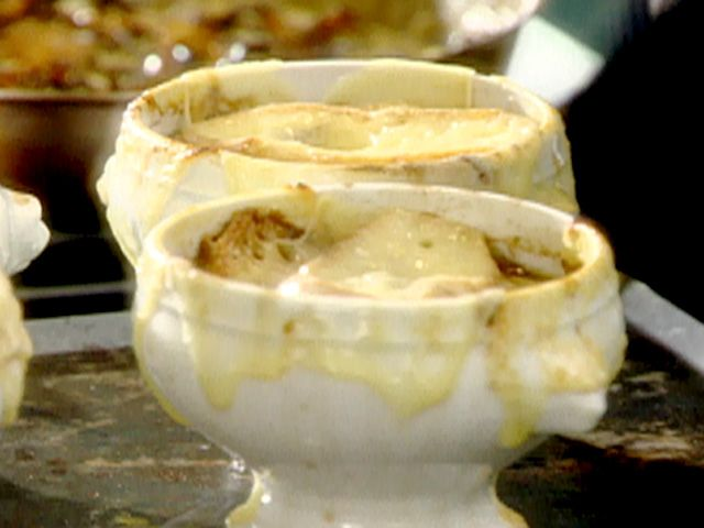 French Onion Soup Recipe : Tyler Florence : Food Network - FoodNetwork.com Seriously the best French Onion I've ever had - but takes a lot longer than suggested in recipe