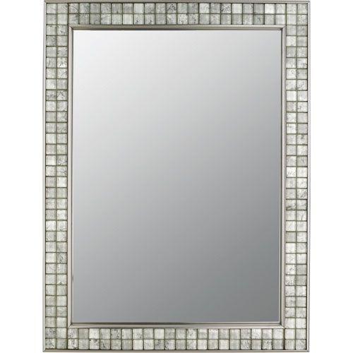Vetreo Clouds Brushed Nickel Mirror