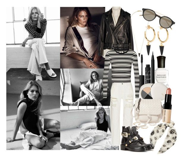 """Don't ever think you're alone here, we've just been trapped in different hells, and people aren't against you dear,  they're just all for themselves"" by brownish ❤ liked on Polyvore featuring Deborah Lippmann, NARS Cosmetics, lilah b., Marques'Almeida, 3.1 Phillip Lim, Topshop Unique, Alexander McQueen, Bottega Veneta, Balenciaga and Bobbi Brown Cosmetics"