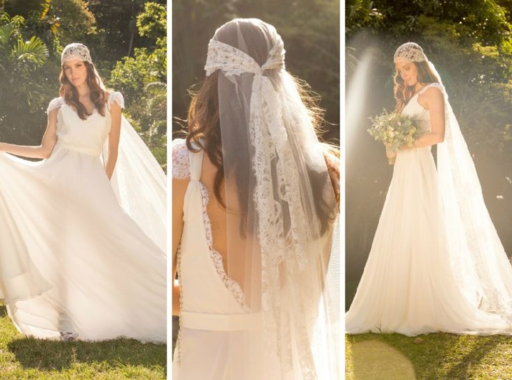 Vestido de noiva para casamento no campo por Mariana Kuenerz - Fotos Georgeana Godinho