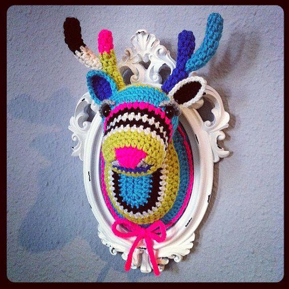 Crochet deer head by ManafkaMina