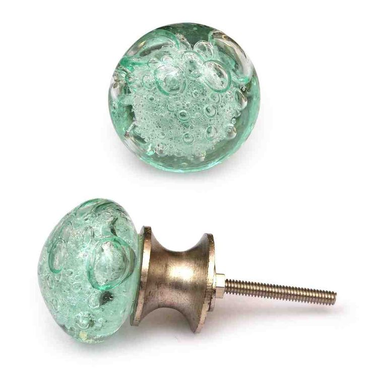 Amazing (sea Glass Inspired) ___ Glass Knob, Light Sea Green With Air Bubbles    Contemporary   Cabinet And Drawer Knobs   Knobco