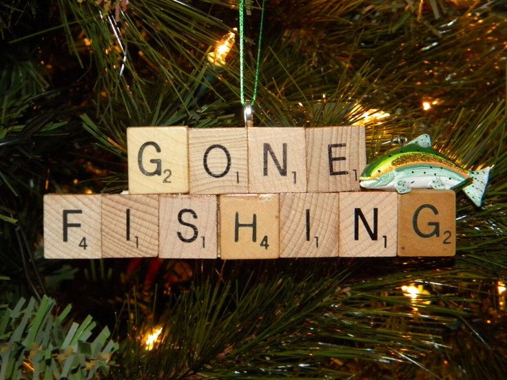Gone Fishing Scrabble Ornament 7462 by SmartSassyCrafts on Etsy https://www.etsy.com/uk/listing/172577550/gone-fishing-scrabble-ornament-7462