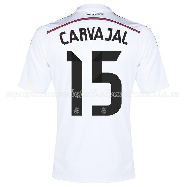 Carvajal de Camiseta Del Real Madrid Primera Equipacion 2014/2015