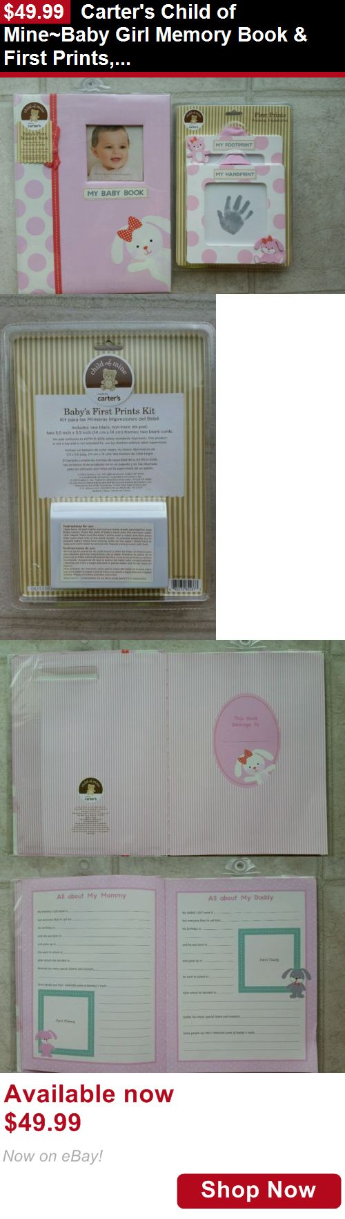 Baby Books And Albums: Carters Child Of Mine~Baby Girl Memory Book And First Prints, Pink Bunny BUY IT NOW ONLY: $49.99