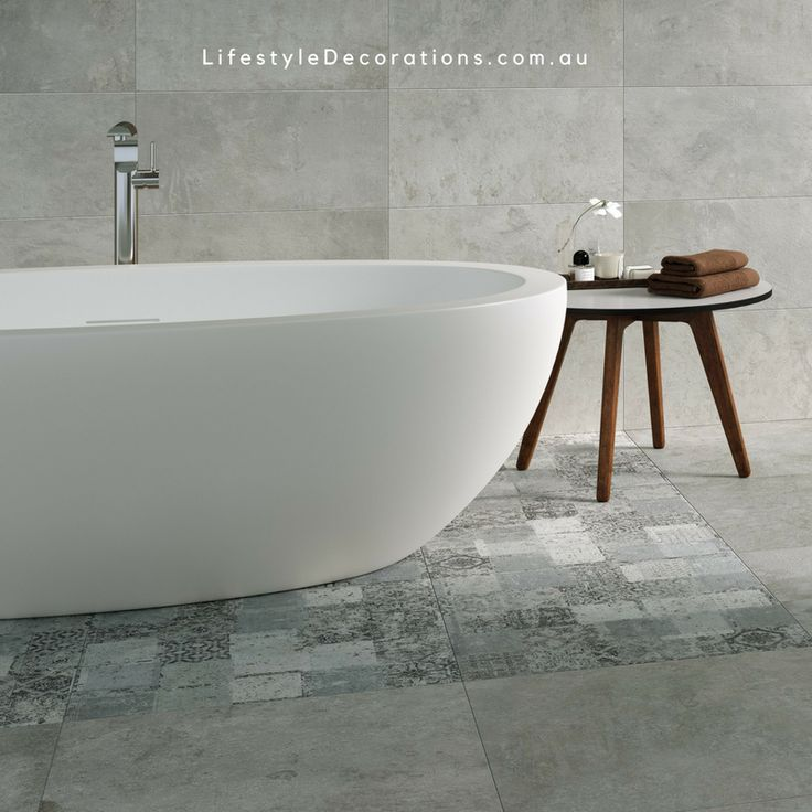 Gorgeous simplicity. Amazing bathroom featuring tiles from Lifestyle Decorations.