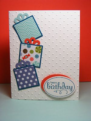 cute: Christmas Cards, Ribbons Bows, Happy Birthday, Birthday Box, Easy Cards, Stampin Up Cards, Birthday Ideas, Birthday Cards Stampin Up, Spring Cards