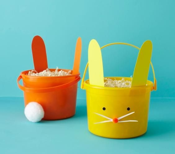How to make DIY Bunny Buckets for Easter.