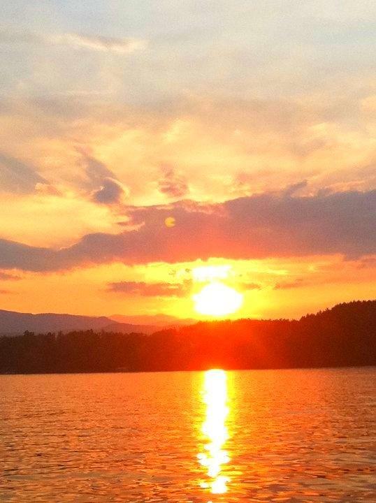 Summer Sunset at Lake James, North Carolina
