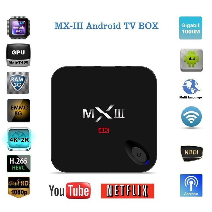 4K HD MX3 S812 XBMC 1080P Quad Core Android 44 Smart TV BOX Media Player 252165677974 For 3985