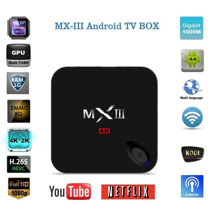 HD 4K MX3 S812 XBMC Kodi 1080P Quad Core Android 4.4 Smart TV BOX Media Player Description 4K HD MXIII 3 Android 4.4 Smart Internent TV Box Features: ... #smart #media #player #android #core #kodi #quad #xbmc